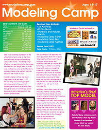 2016 Modeling Camp Brochures